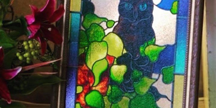ステンドグラス風のグラスアート