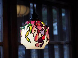 グラスアートの照明