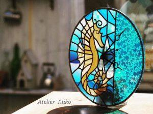 タツノオトシゴのグラスアート