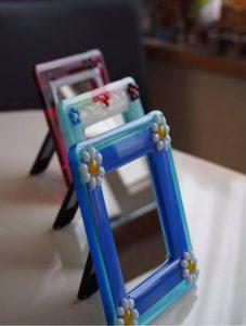 ガラスフュージングの鏡